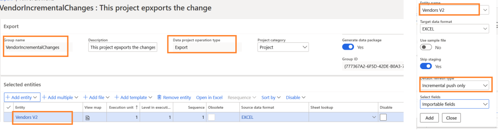 D365 FO Integrating with DMF using REST API Enable change tracking