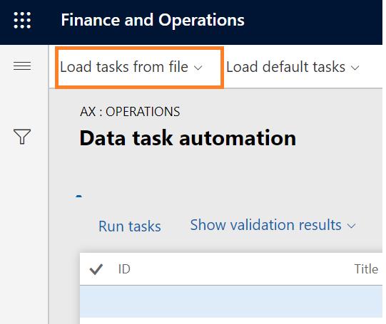 Dynamics 365 FO Data Management framework Data Task Automation
