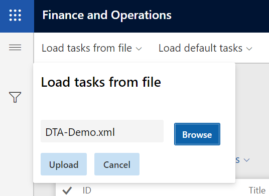 Dynamics 365 FO Data Management framework Data Tool Automation Load File