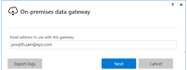 Installing and configuring On-premises data gateway Sign in with work or school account