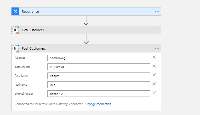 Azure Gateway LogicApp: Showing the response from onPrem web service