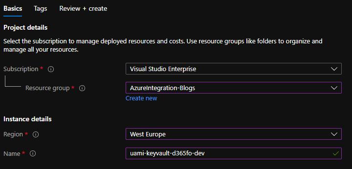 create user assigned azure managed identity