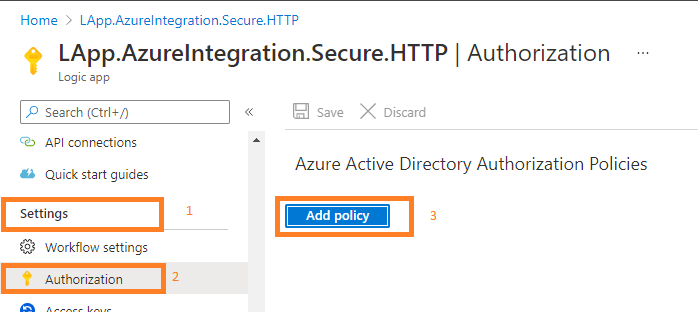 secure logic app HTTP trigger endpoints enable oAuth Authorization