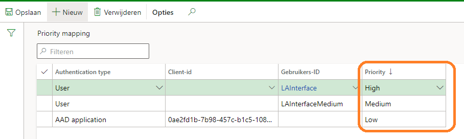 Set Throttling priority mapping for integrations