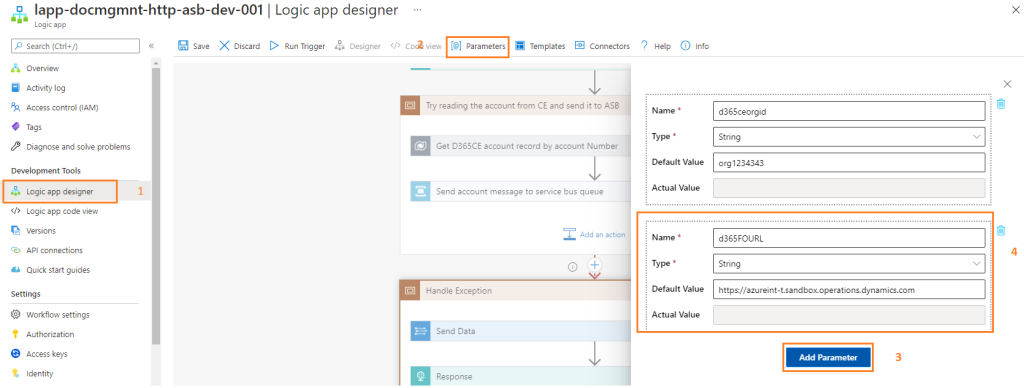 Azure Integration : Parameters in the Logic App : Design development best practices for Azure Logic App