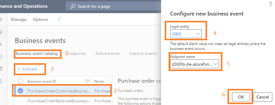D365FO business event integration with  Azure Function App, Logic Apps, APIM, and WebAPIs : Activate the endpoint