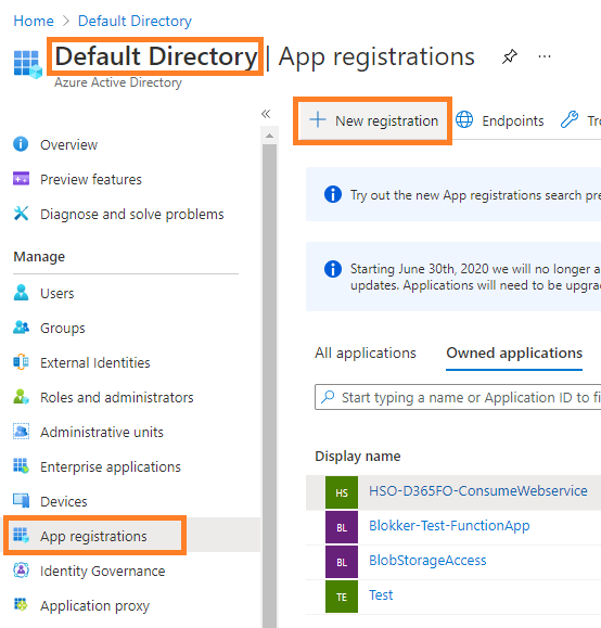 D365FO business event integration with  Azure Function App, Logic Apps, APIM, and WebAPIs : Register Azure AD Application