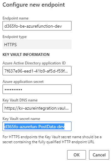 D365FO business event integration with  Azure Function App, Logic Apps, APIM, and WebAPIs : Configure new HTTPS endpoint